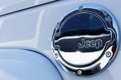 Lafayette - circa im April 2018: Jeep Automobile Logo Jeep ist eine Tochtergesellschaft von Automobilen Fiats Chrysler I lizenzfreie stockfotografie