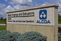 Lafayette, IN - Circa July 2016: Alcoa Incorporated Forging and Extrusion Plant. Alcoa is a leader in metals technology IV Stock Photo