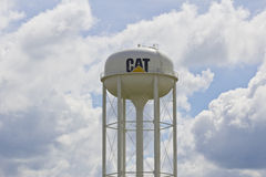 Lafayette, IN - Circa July 2016: Caterpillar Watertower. Caterpillar Inc. is a Heavy Equipment Manufacturer I Royalty Free Stock Photo