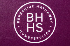 Lafayette - Circa June 2017: Berkshire Hathaway HomeServices Sign. HomeServices is subsidiary of Berkshire Hathaway Energy III Royalty Free Stock Photography