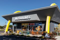 Lafayette - Circa October 2018: McDonald`s Restaurant Location. McDonald`s is a Chain of Hamburger Restaurants II stock photo
