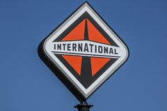 Lafayette - Circa September 2017: International Trucking corporate logo and signage. International is owned by Navistar I. International Trucking corporate logo Stock Image