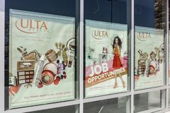 Lafayette - Circa September 2017: Opening Soon - Ulta Salon, Cosmetics & Fragrance Retail Location XII Royalty Free Stock Photo