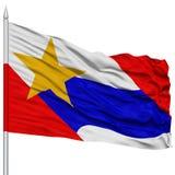 Lafayette City Flag on Flagpole, USA Stock Images