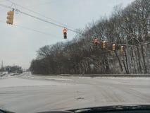 Lafayette congelado Indiana na véspera do ` s do ano novo Fotos de Stock Royalty Free