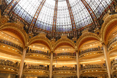 Lafayette department store in paris Royalty Free Stock Photo