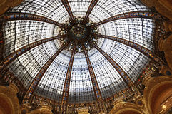Lafayette Galeries Dome from Paris in France Royalty Free Stock Photography