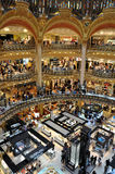 Lafayette Galeries in Paris Stock Photography