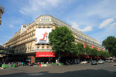Lafayette galleries. Famous shopping mall galleries lafayette in paris france Stock Photography