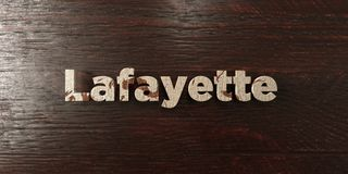 Lafayette - grungy wooden headline on Maple  - 3D rendered royalty free stock image Stock Photos