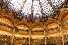 Lafayette-Kaufhaus in Paris Lizenzfreies Stockfoto