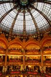 Lafayette luxury shopping mall. Inside the Lafayette luxury shopping mall in Paris Royalty Free Stock Images