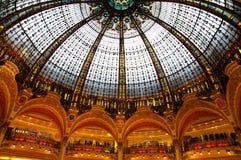 lafayette lyxig galleriaparis shopping Arkivbilder