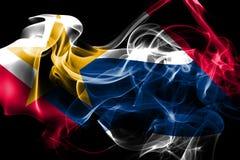 Lafayette miasta dymu flaga, Indiana stan, Stany Zjednoczone Ameri zdjęcie stock