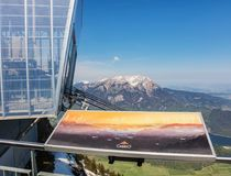lafayette mt nh till den övre sikten washington Stanserhorn i Schweiz Royaltyfria Bilder