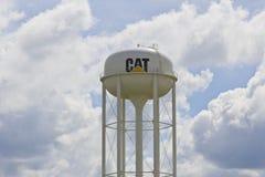 Lafayette Około Lipiec 2016, WEWNĄTRZ -: Gąsienicowy Watertower Caterpillar Inc jest Ja Ciężki wytwórca sprzętu Zdjęcie Royalty Free