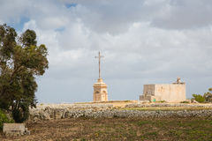 Laferla Cross in Siggiewi area, Malta Stock Photo