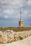 Laferla Cross in Siggiewi area, Malta. Laferla Cross near Siggiewi on the Malta island Stock Photos