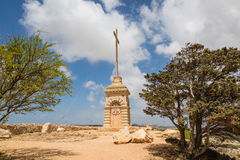 Laferla Cross in Siggiewi area, Malta. Laferla Cross near Siggiewi on the Malta island Stock Photography