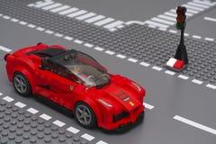 LaFerrari door LEGO Speed Champions Stock Foto's