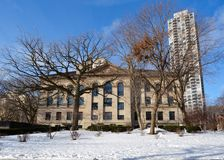 Laflin Building in Snow Stock Image