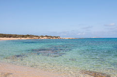 Lafrakas is a dreamy beach in the north of Gavdos, Greece Royalty Free Stock Image