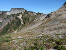 Lagópode dos Alpes Ridge Trail na queda Imagem de Stock