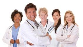 Lag av doktorer Arkivbild