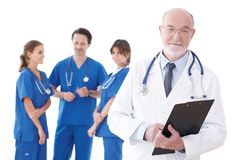 Lag av doktorer och sjuksköterskor arkivfoton