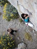 Lag av klättrare royaltyfri fotografi