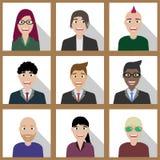 Lag av kontorsfolk stock illustrationer