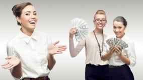 Lag av unga lyckade affärskvinnor Arkivbild