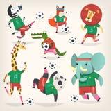 Lag av vilda djur som spelar fotboll Andra lag Royaltyfri Foto