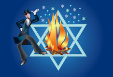 Lag Ba-Omer. Rabbi Shimon taught that death of body is returning of the soul to God, cause for gladness, but not for sorrow. He asked therefore, that in the day Royalty Free Stock Photo