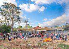 Lag Baomer bonfires in Israel Royalty Free Stock Photo