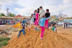 Lag Baomer bonfires in Israel Stock Images