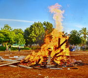 Lag BaOmer Bonfires in Israel Stock Images