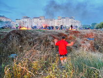 Lag BaOmer Bonfires in Israel Stock Image