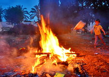 Lag BaOmer Bonfires in Israel Royalty Free Stock Images