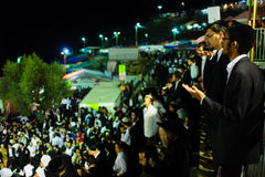 Lag BaOmer on Mount Meron 2015 Stock Photography