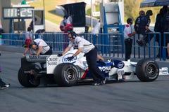 Lag BMW-Sauber F1, Robert Kubica, 2006 Arkivbilder