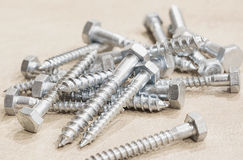 Lag Bolts close up Royalty Free Stock Image