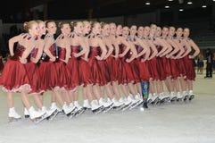 lag för 2011 för koppskridskoåkningfjäder svensk för överrrakning Royaltyfria Bilder