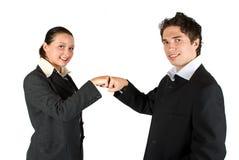 lag för affärskonfrontationavtal Royaltyfri Bild