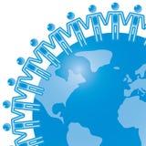 lag för begrepp för 19 blue globalt Royaltyfri Fotografi