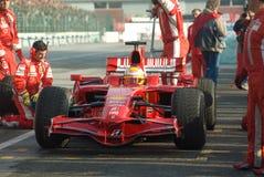 Lag för Ferrari formel en Arkivfoton