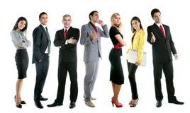 lag för folk för längd för grupp för affärsfolkmassa fullt
