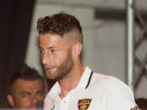 Lag för fotboll för Donida spelarelecce Royaltyfri Bild