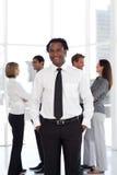 lag för främre potrait för affärsman plattform royaltyfri bild