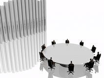 lag för framgång för konferensmötelokal stock illustrationer